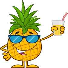 30 Custom Cool Pineapple With Drink Personalized Address Labels
