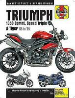 Triumph 1050 Sprint Tiger Speed Triple 2005 - 2015 Haynes Manual 4796 NEW