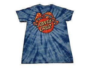 Vintage Santa Cruz Skateboards T Shirt Tie Dye Rare Mushroom Graphic Sz S