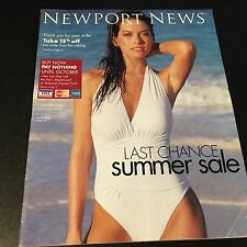 RARE LINGERIE/SWIMSUIT MAGAZINE/CATALOG NEWPORT NEWS SUMMER SALE 03 ADRIANA LIMA