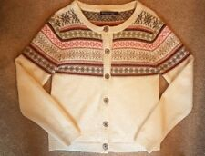 Laine Fairisle Nordic Winter Cardigan 10 12