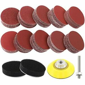 Coceca 180pcs 2 Inches Sanding Discs Pad Kit for Drill Sander Drill Sanding A...