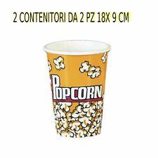 CONTENITORE PER POP CORN  IN CARTONCINO 2CONF. DA  2 PZ 18 X 9 cm