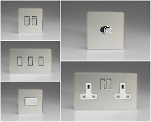Varilight Screwless Polished Chrome Range - White Inserts & Chrome Switches
