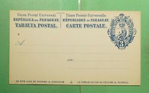 DR WHO PARAGUAY UNUSED POSTAL CARD  g02064