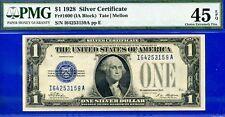 Ultra Rare 1928 $1 Silver Certificate (( IA-BLOCK )) PMG XF45 EPQ # I64253159A