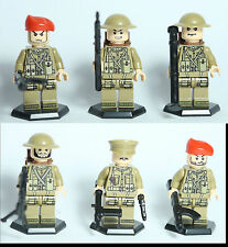 WWII U.K Britain Soldier minifig,minfigure+helmet,weapon,grenade