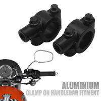 "1 Pair Universal Motorcycle Handlebar Mirror Mount 10mm 7/8"" Aluminum Clamp AU"
