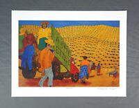 Vintage Signed Print Puerto Rican Artist Frank Diaz Escalet Puerto Rico 1992