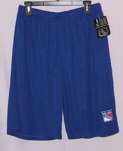 New York Rangers Primary Logo Shorts Blue - Majestic NHL