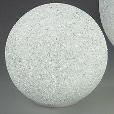 Formano Lichtkugel Ø 12 cm Kunststoff weiß LED Licht warm weiss Deko Kugel ♥