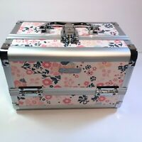 Joligrace Cosmetic Makeup Train Case - Organizer Box with Mirror Light Weight