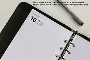 Day Per Page Refills A5 | 2021-2022 | Fits Filofax Organisers