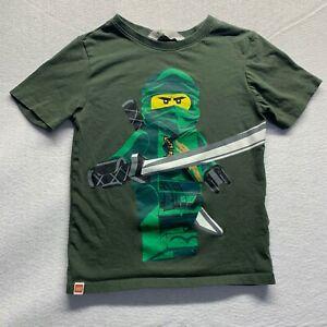 H&M size 6-8 unisex Lego Ninjago Minifigure All Over Print Short Sleeve Shirt