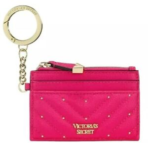 Victoria's Secret NWT Credit Card Divider ID Holder Coin Wallet Hot Pink