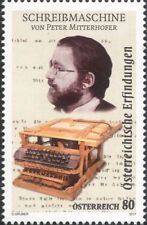Austria 2017 Peter Mitterhofer/Typewriter/Inventors/Inventions/People 1v  at1288