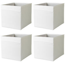 IKEA DRÖNA WEIß Fach Box Expedit Kallax Regal Aufbewahrungsbox Kiste 4 Stück