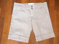 NWT ABERCROMBIE & FITCH Brown PLAID DRESS Cuffed Shorts 100% Cotton ...size 8