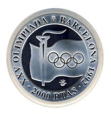 SPANIEN - 2000 Pesetas 1991 - OLYMPIA Barcelona - Flamme - SILBER - ANSEHEN