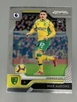 Max Aarons 2019-2020 Panini Prizm Premier League EPL Rookie RC #280 Norwich City