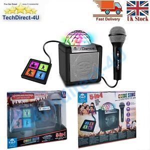 New iDance Cube Sing 200 Black 5 in 1 Karaoke Wireless Bluetooth Party Speaker