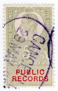 (I.B) George VI Revenue : Public Records 5/-