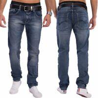 Hommes Slim Fit Jeans Denim fuselés jean bleu foncé Pantalon étirer