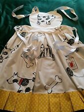 Vintage Laura Ashley Fabric - Retro Style Frilled Apron,  Cats and Dogs