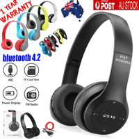 Noise Cancelling Wireless Headphones bluetooth 4.2 Earphones headset with Mic AU