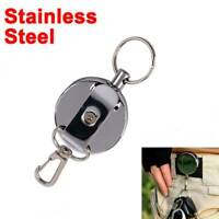 Resilience Steel Wire Rope Elastic Keychain Retractable Anti Lost ID Card Holder