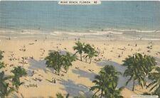 Postcard Florida Miami Beach Linen NrMint 1940s