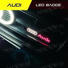 1x Audi Logo Led Light Car Front Grille Emblem Badge Illuminated Bumper Sticker (Fits: Audi)