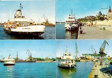 vier AK, Świnoujście, Swinemünde, verschiedene Hafenmotive, 1971 - 1975