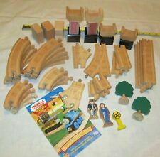 Thomas Wooden Railway  TRACK PIECES, FIGURES, YEARBOOK XV11----46 PIECES