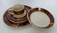 Sakura Majesticware TRIBE Animal Print Border 5-pc Place Setting (6 Available)