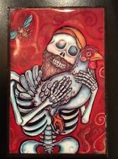 Pirate and Chicken Day of the Dead Dia de los Muertos Magnet