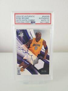 Kobe Bryant Signed 2004 SP Authentic Lakers HOF Jersey PSA/DNA 10 AUTO ! POP 1 !