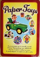 DIY VINTAGE POP UP MOVEABLE PAPER TOYS MODEL KIT IN COLLECTOR'S TIN NEW