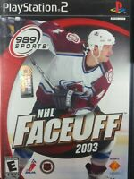 NHL FaceOff 2003 - Playstation 2 PS2 Game - Complete & Tested