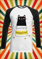 Cute Cat Kitten Antidepressant Men Women Long Short Sleeve Baseball T Shirt 1365