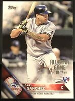 2016 TOPPS ALL-STAR GAME SILVER #675 GARY SANCHEZ Rookie Yankees RC Rare Set