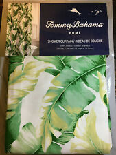 """Tommy Bahama White Tropical Shower Curtain 72"""" x 72"""" New"""