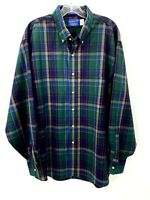 Pendleton Mens XL Blue Green Plaid 100% Worsted Wool Button Down Shirt NWOT
