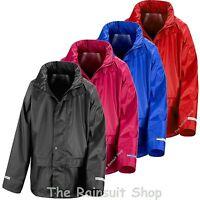 NEW WATERPROOF  HOODED RAIN JACKET COAT CHILDRENS BOYS OR GIRLS 3yrs to 12yrs