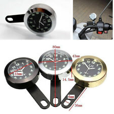Waterproof Motorcycle Handlebar Dial Clock Night Light for harley,kawasaki,honda