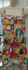SOULCAL MULTI COLOURED FLORAL STRAPPY THIGH LENGTH TOP - SIZE 8