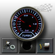 Boost Turbo gauge interior dash smoked dial face with chrome bezel 52mm (BAR)