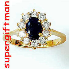 X049 - BAGUE OR DOUBLE AM. / ring goud  DIAMANTS CZ T48