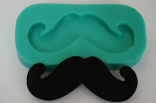 Silicone Mould Sugarcraft Cake Decoration Fimo Clay Moustache Mold Crafts (3136)