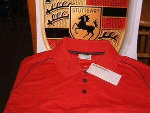 PORSCHE DESIGN DRIVER'S SELECTION RED POLO GOLF SHIRT USA SIZE S, EURO M NIB